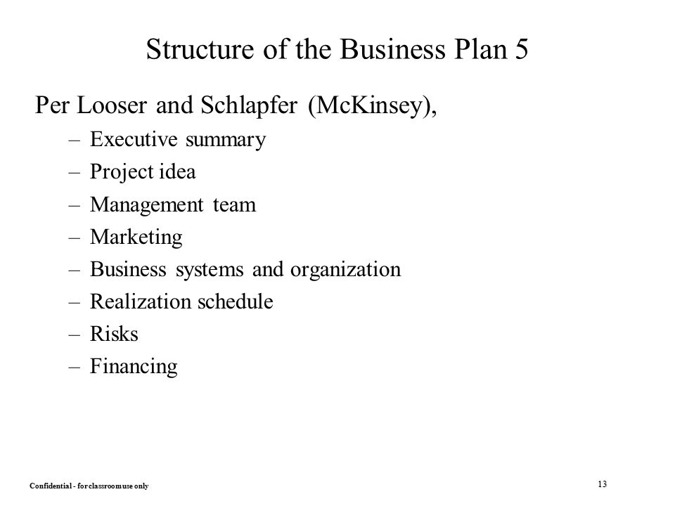 Mckinsey business plan
