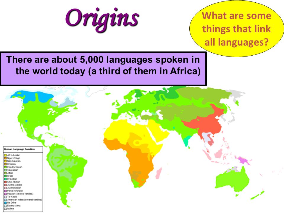 The Origins Of Language Origins What Are Some Things That Link - How many languages are in the world today
