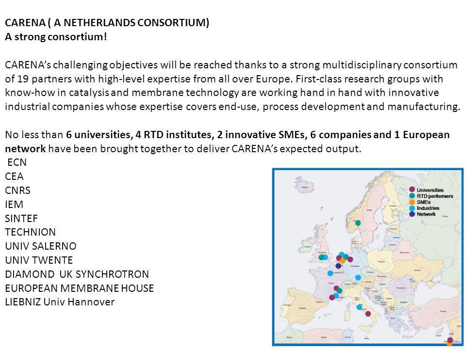 CARENA ( A NETHERLANDS CONSORTIUM) A strong consortium.