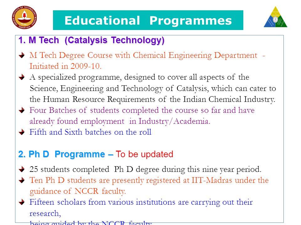 Educational Programmes 1.