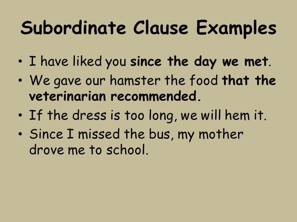 Clause Notes Independent Clauses A Clause Is A Group Of Words That