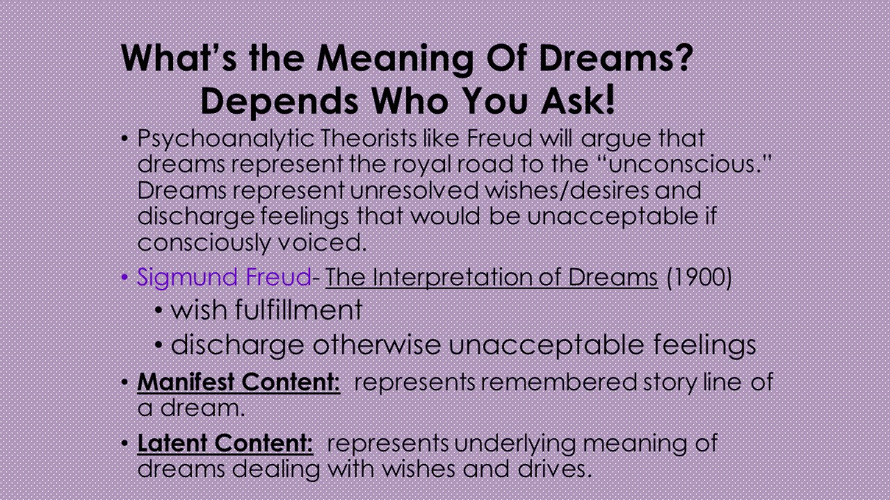 dream theorists on dreams and what