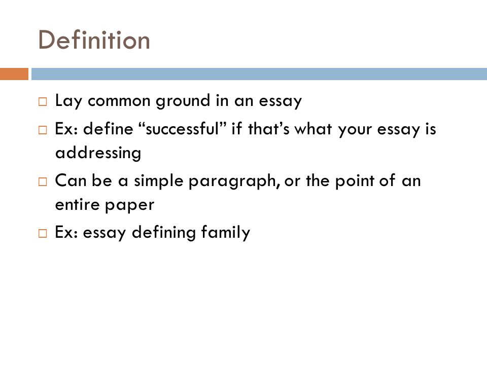 Define Success Essay