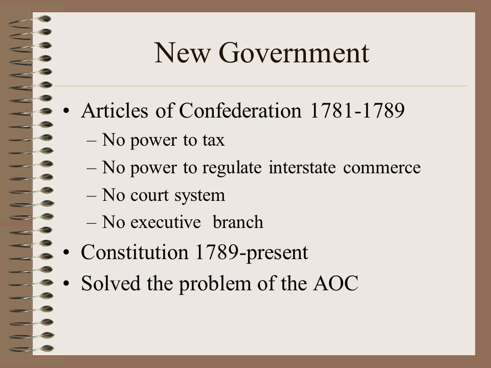an analysis of articles of confederation from 1781 to 1789 The articles of confederation provided an effective, although shaky and not perfect, first step towards a government from 1781-1789 during the united state's infancy.
