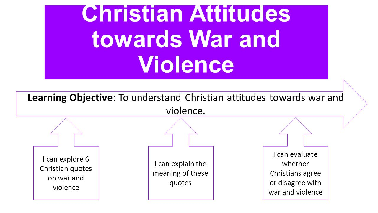 explain christian attitude towards war The christian attitude toward war has 10 ratings and 1 review maryjs said: pretty antiquated first published in 1940 read: before wwii much better an.