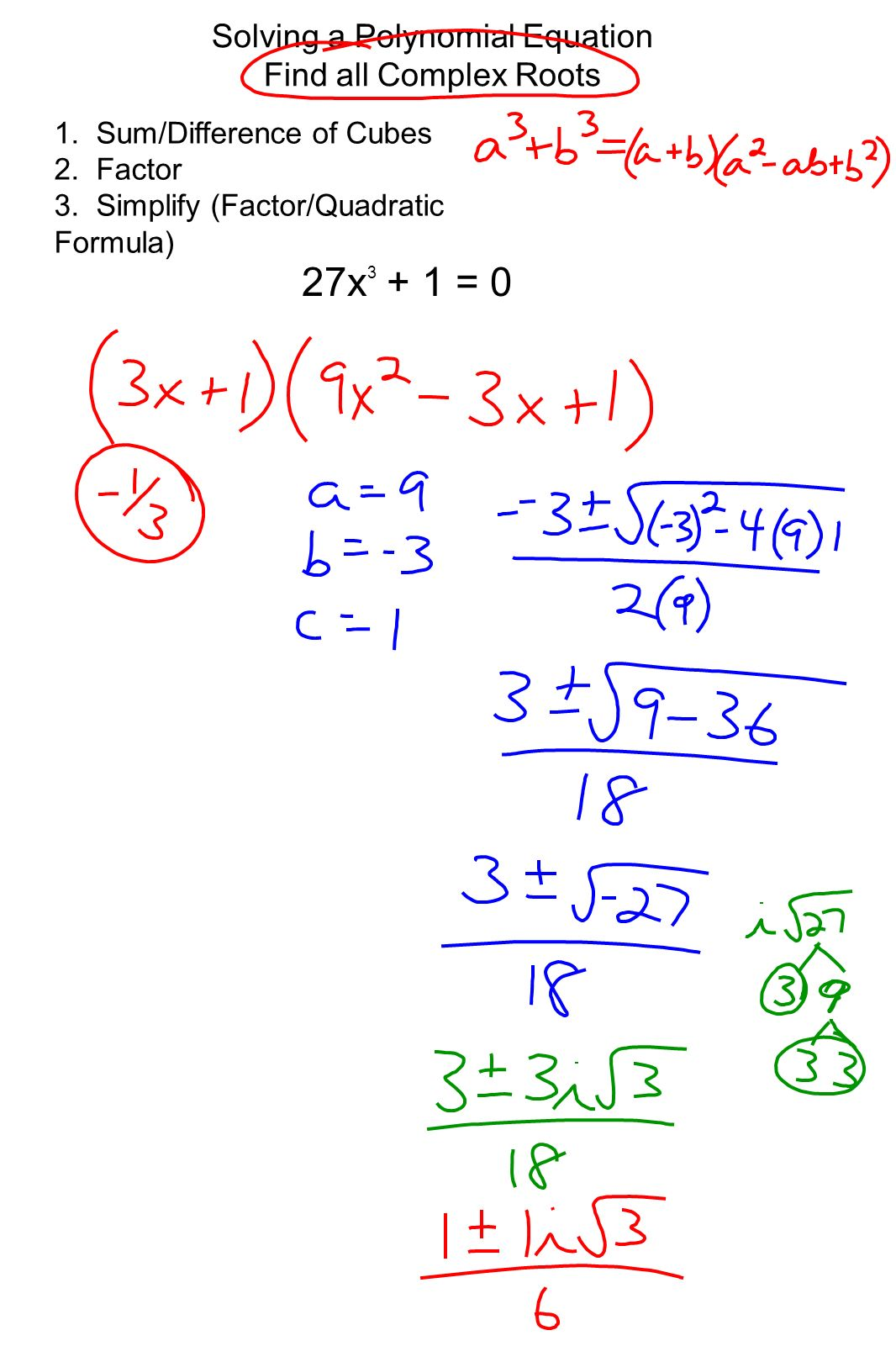 Solving Polynomial Equations By Factoring Worksheet With Answers