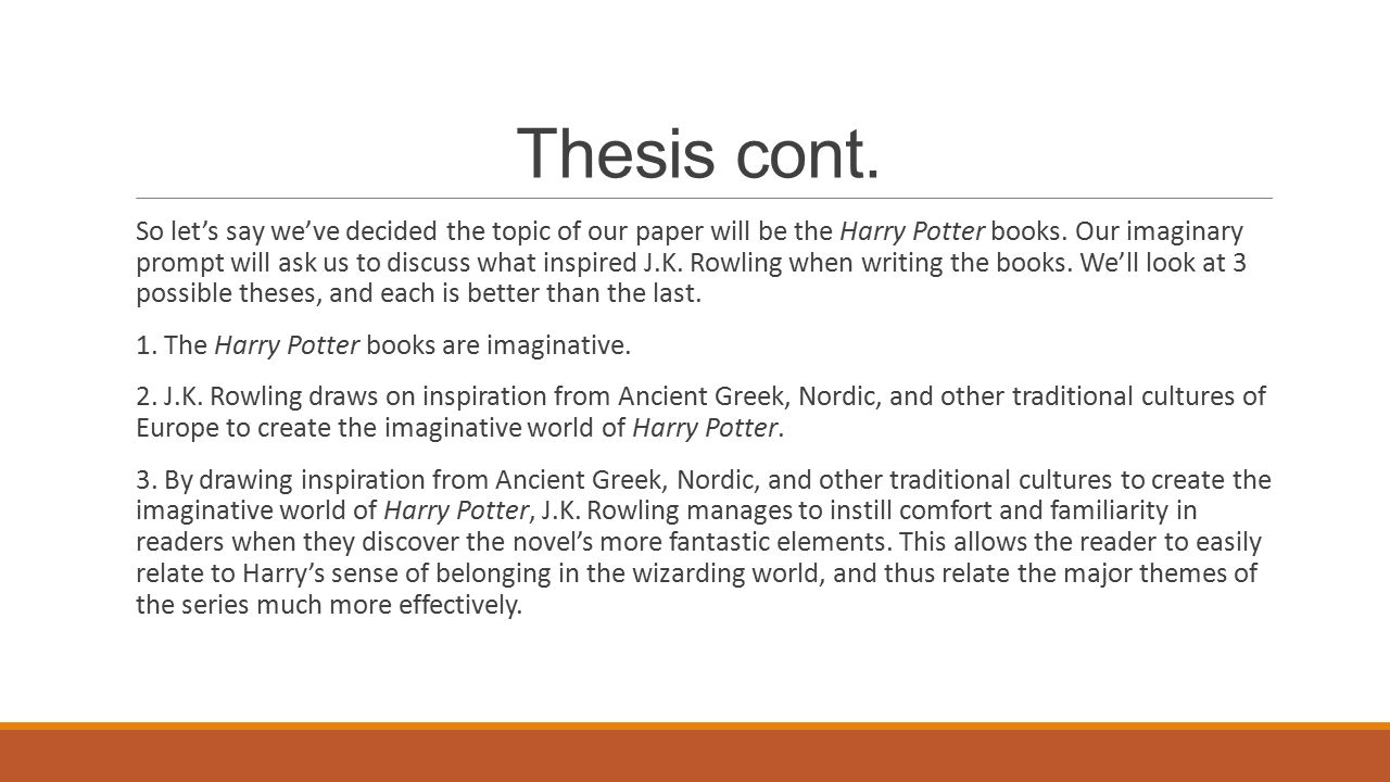 an intro to research papers starring the thesis and why you  so let s say we ve decided the topic of our paper will
