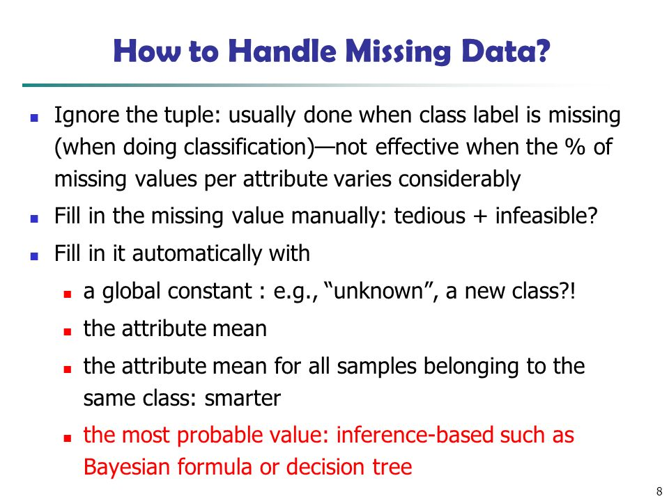 8 How to Handle Missing Data.