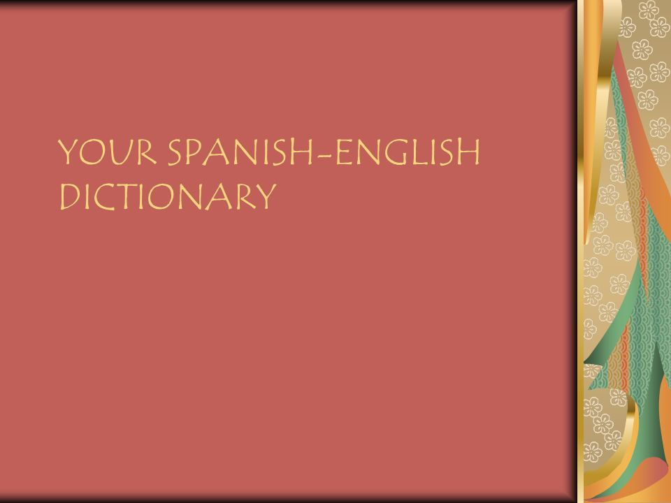 Your spanish english dictionary when you want to know what a word 1 your spanish english dictionary solutioingenieria Gallery