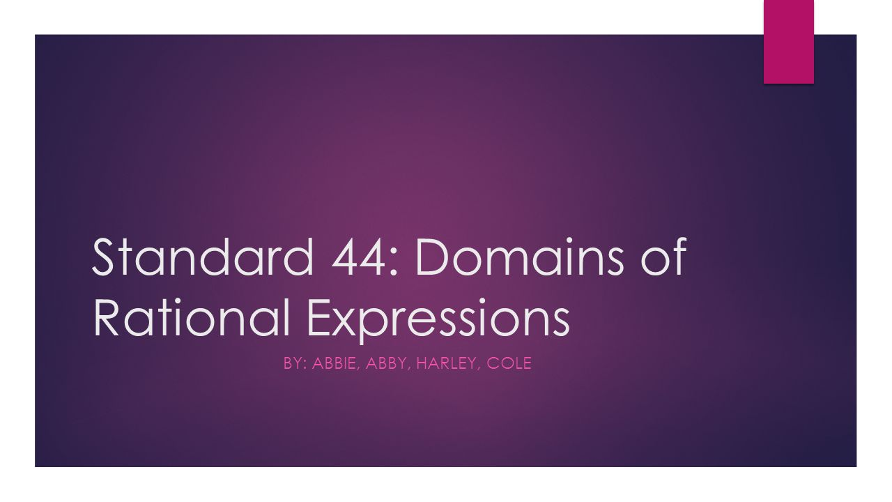 domains of rational expressions