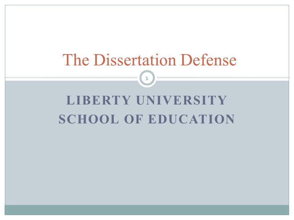 Dissertation defense powerpoints