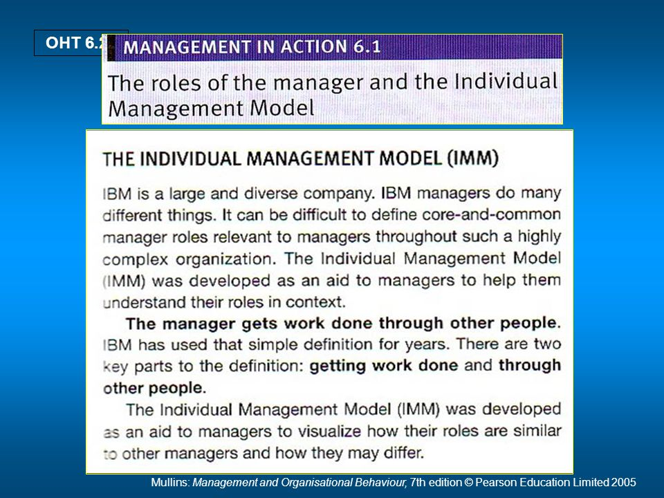 Mullins: Management and Organisational Behaviour, 7th edition © Pearson Education Limited 2005 OHT 6.26