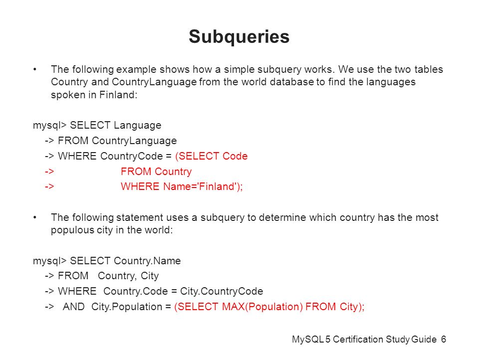 Distributed Database Systems INF Joins MySQL Certification - Which language is spoken by maximum in world