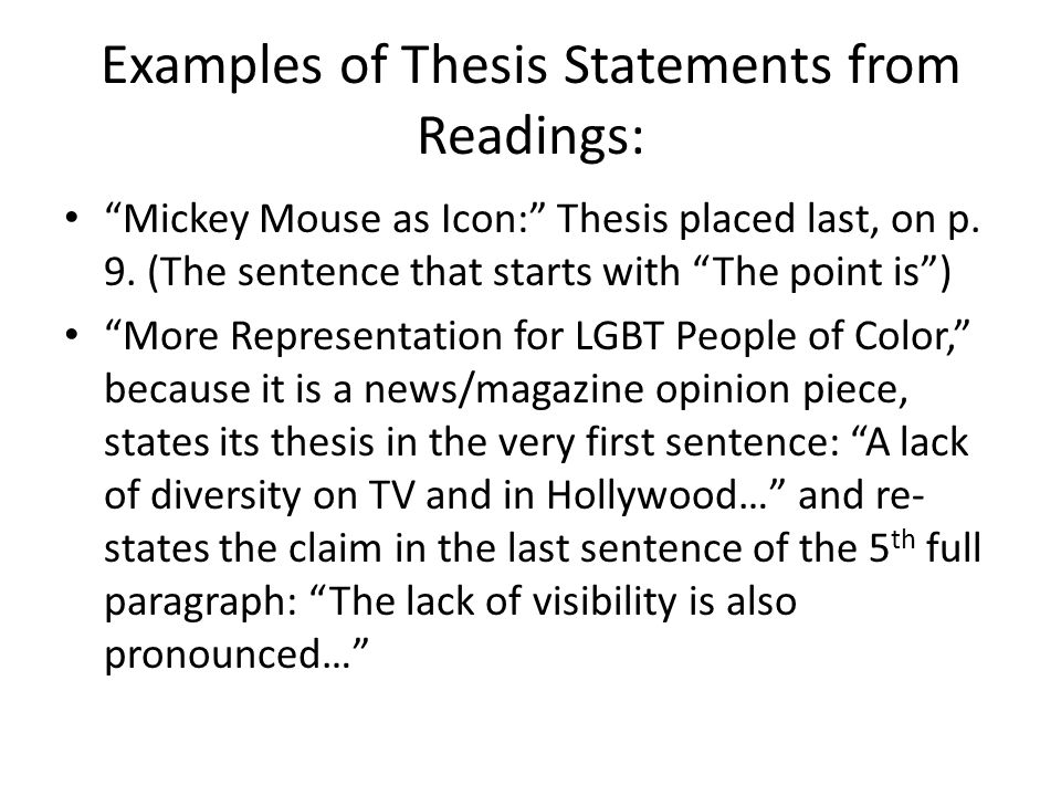 thesis statements on diversity