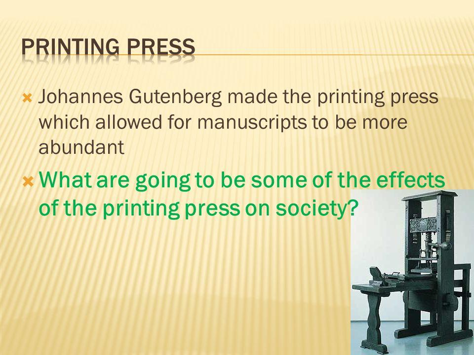 world history on the printing press