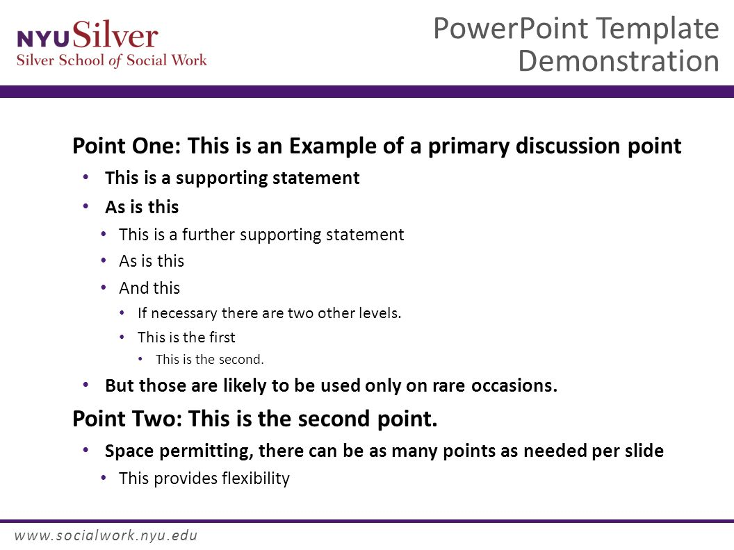 powerpoint template demonstration dr. john smith nyu silver school, Modern powerpoint