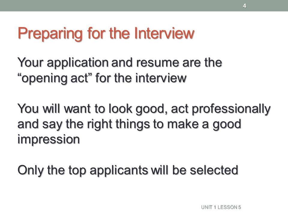things to say in an interview