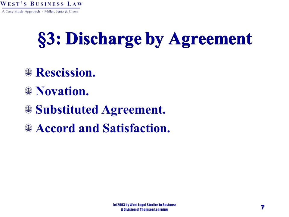 Chapter 16 Contracts — Performance And Discharge. - Ppt Download