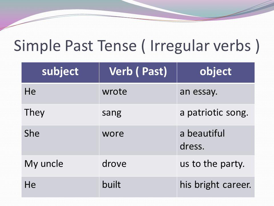 Present tense essay