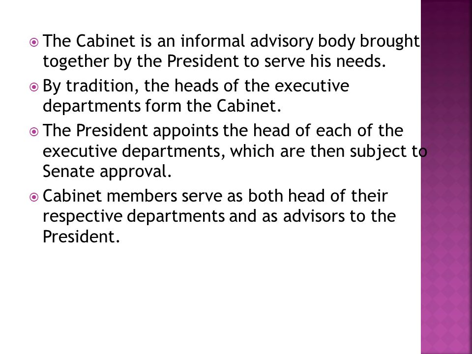 Part 5 Objective: You will be able to list the different cabinet ...