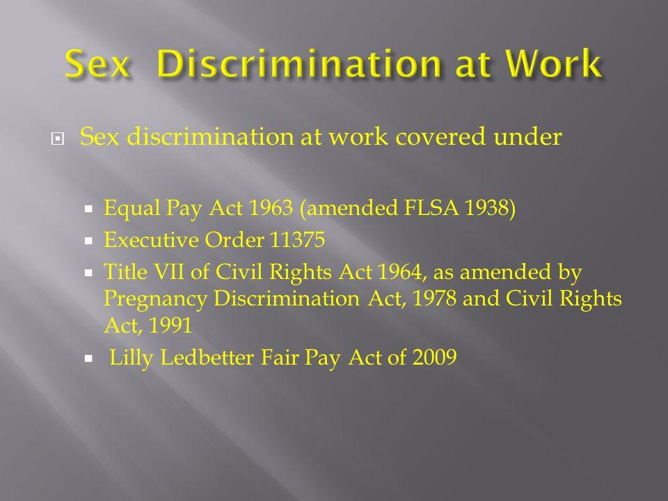 Sex discrimination order