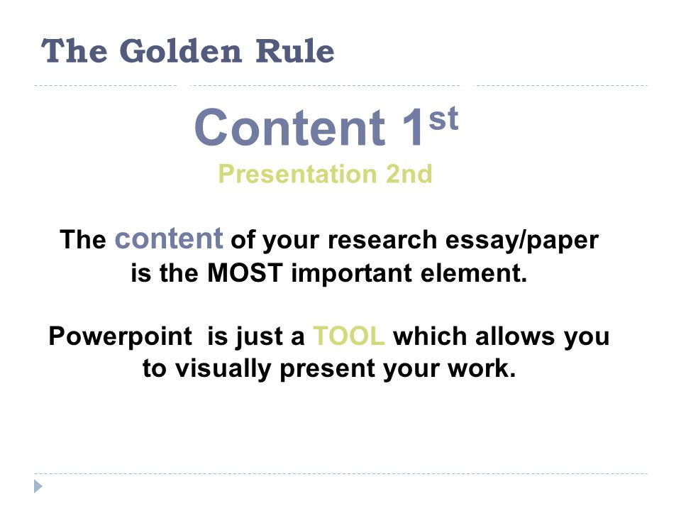 research presentations 101 research essaypresentation