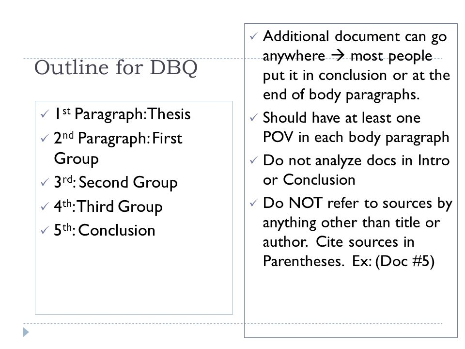 What are DBQ essays? Giving site references are fine too.?