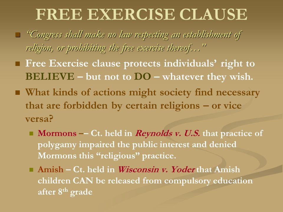 congress shall make no law respecting an establishment of religion