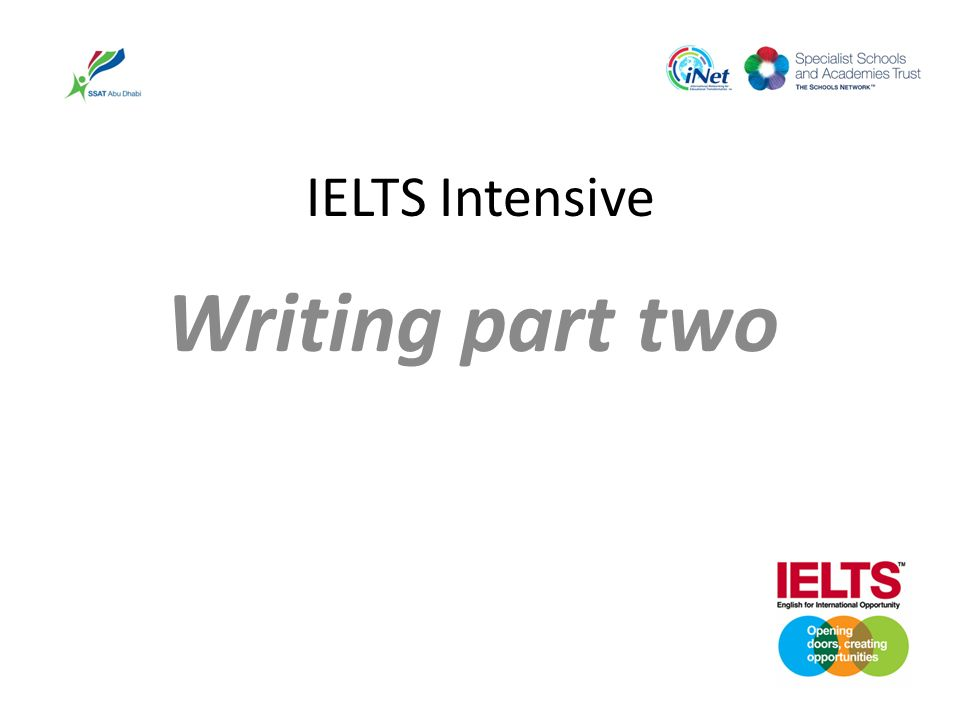 IELTS Intensive Writing part two