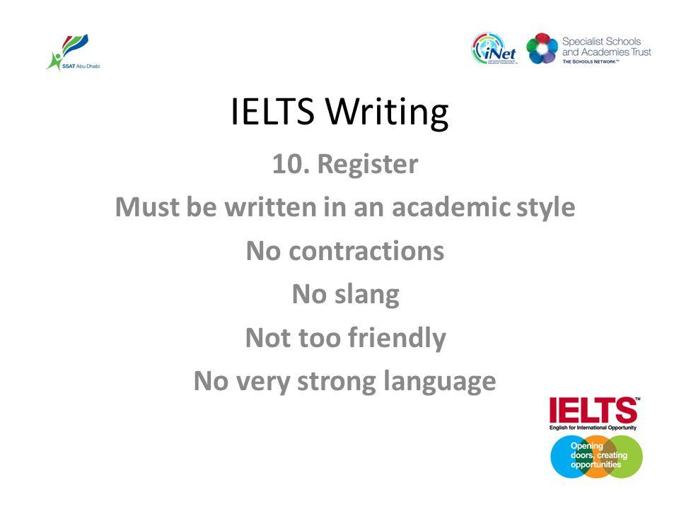 IELTS Writing 10.
