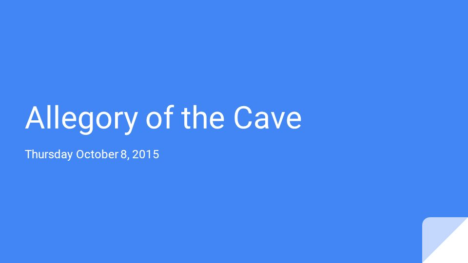 "a summary of the story of allegory of the cave An allegory is a story that conveys a deeper philosophical or other meaning than research summary browse plato's ""allegory of the cave"" tells a story."
