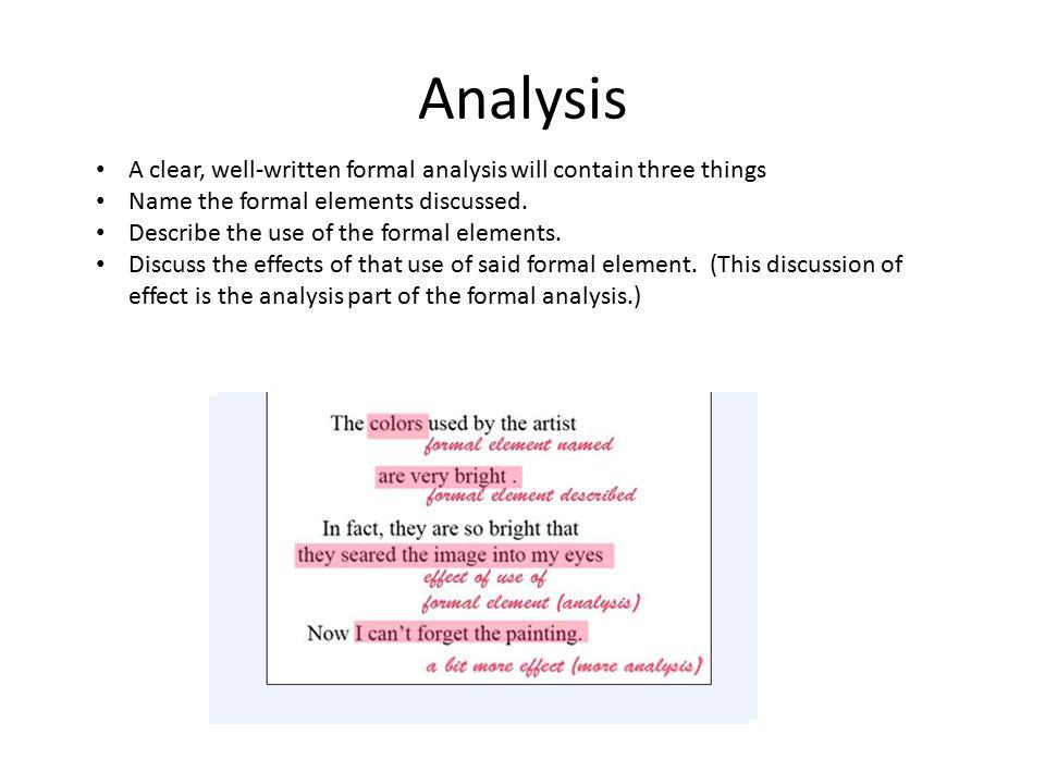 Formal analysis in ART?