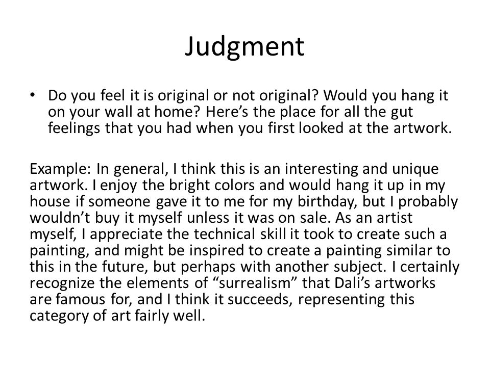 Critique of art example.