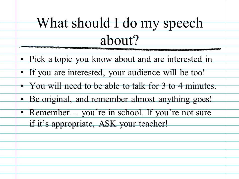 What makes a good speech