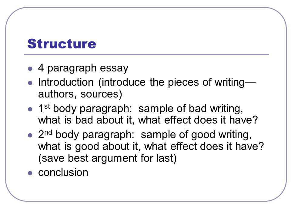 the 5 paragraph essay is bad Free essay on why smoking is bad for everyone available totally free at echeatcom, the largest free essay community.