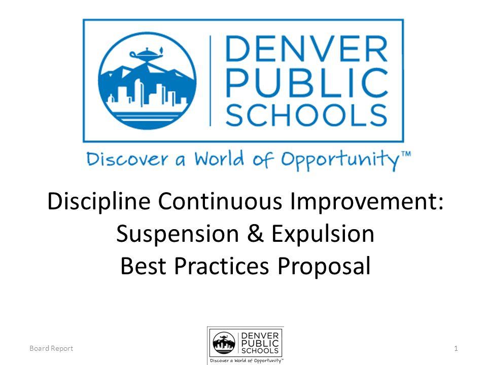 Discipline Continuous Improvement Suspension Expulsion Best