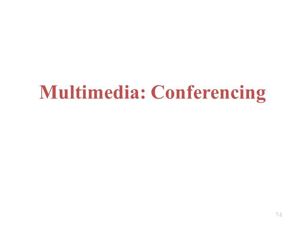 Multimedia: Conferencing 7-1