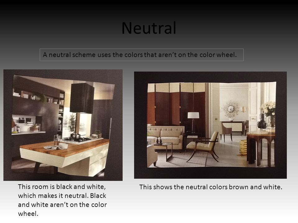 Neutral A Scheme Uses The Colors That Arent On Color Wheel