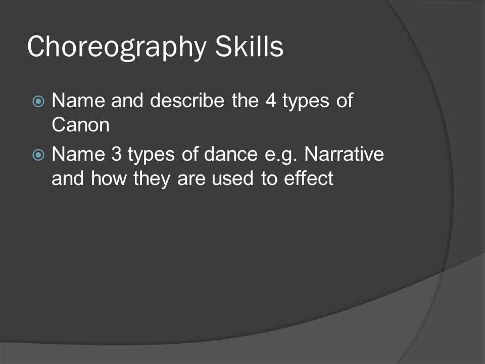 dance narrative essay
