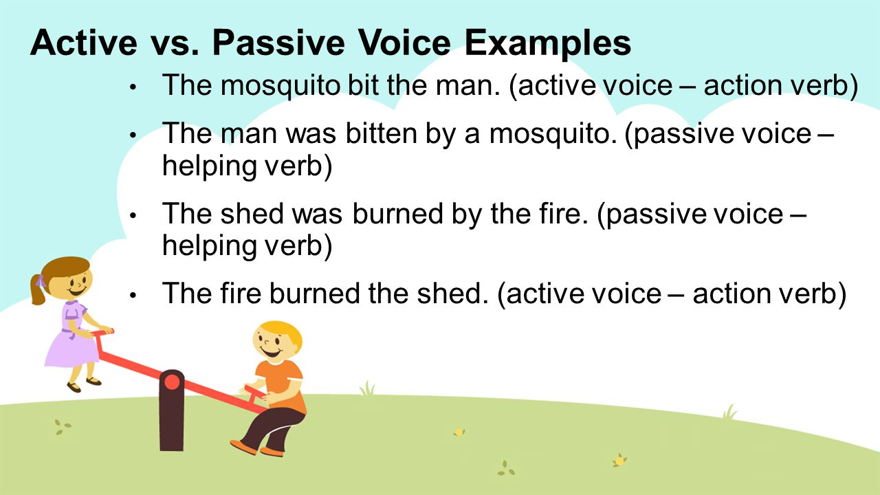 what is a passive sentence examples