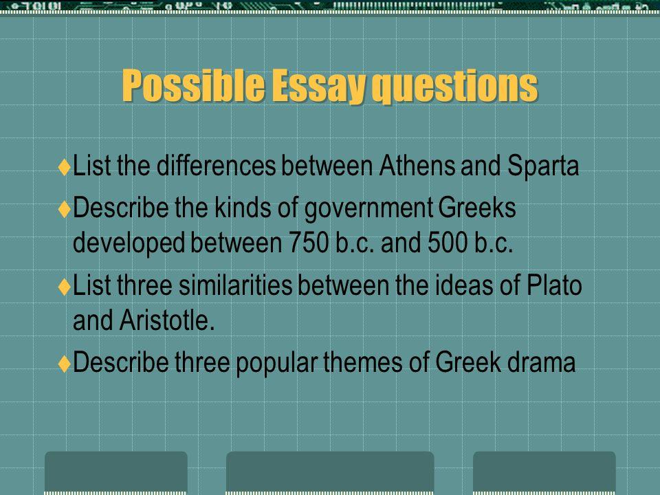 drama essay questions