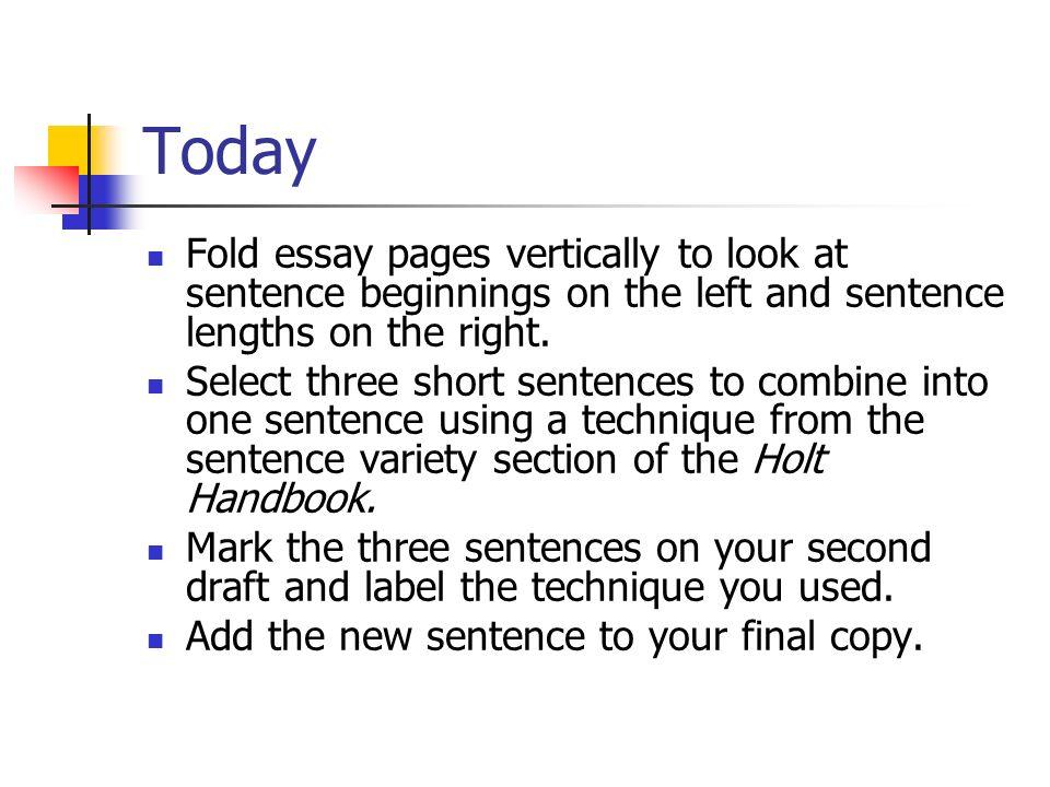 o fold essay