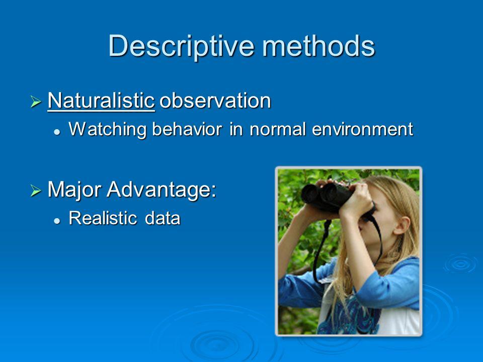 psychology naturalistic observation essay