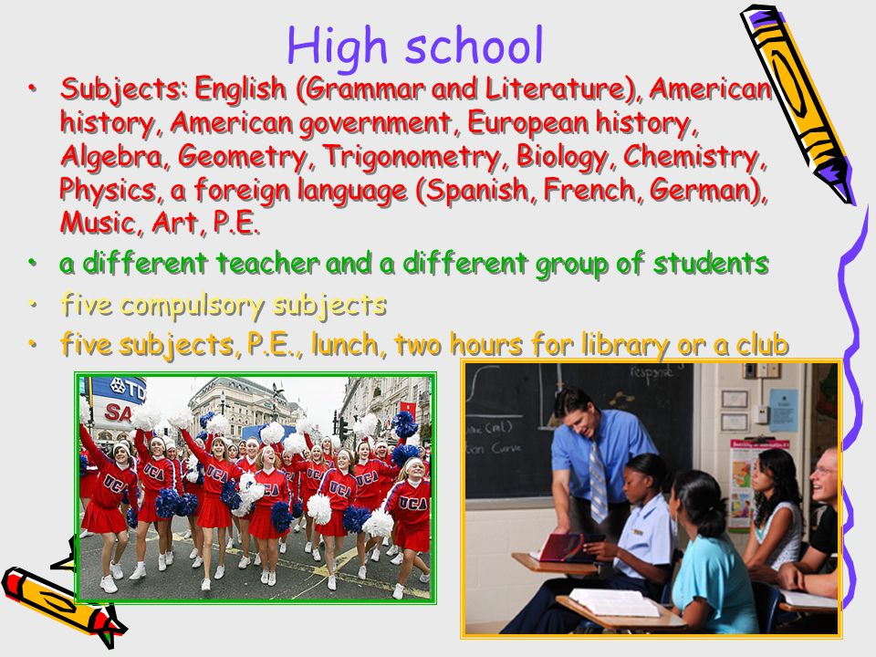 American and British Education. The United States of America ...