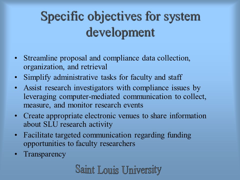 Research Proposal Objectives