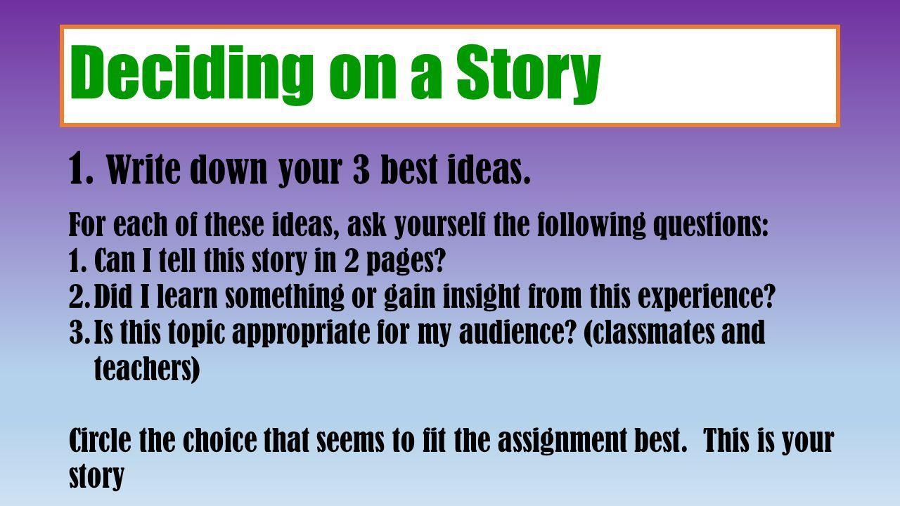 essay on my experience of school