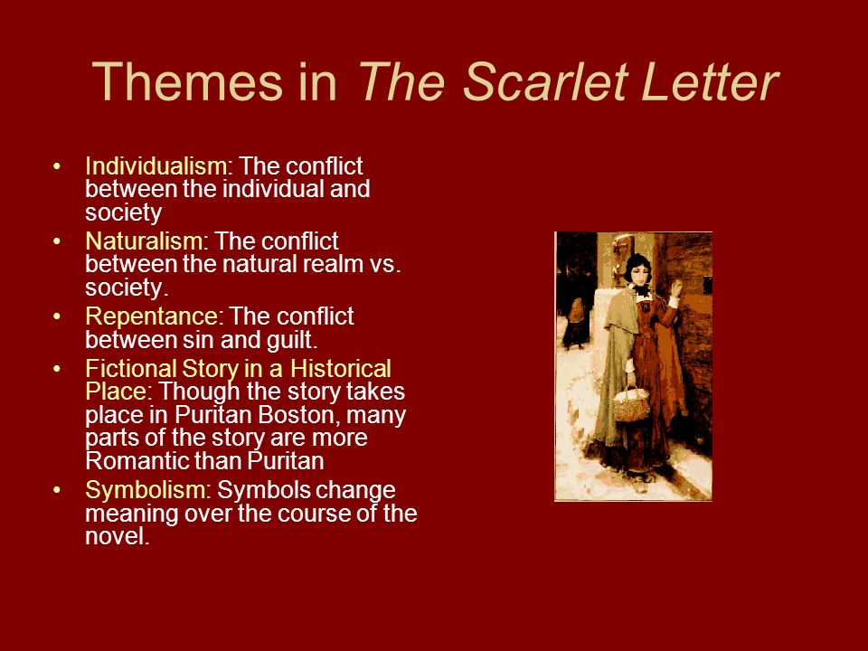 an analysis of two main themes of nathaniel hawthornes the scarlet letter