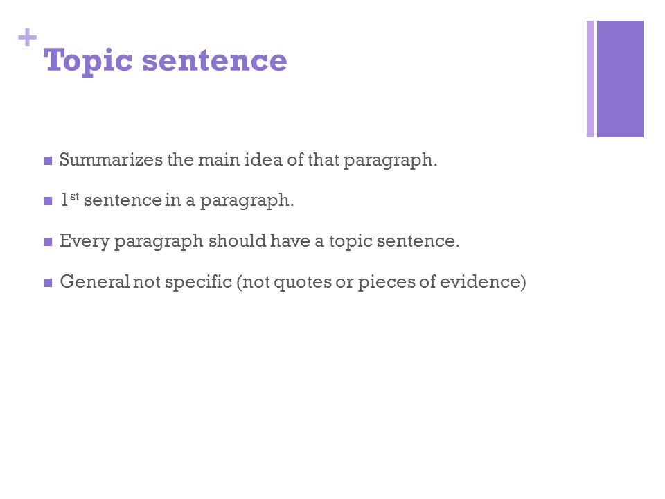 What should a opening paragraph have?