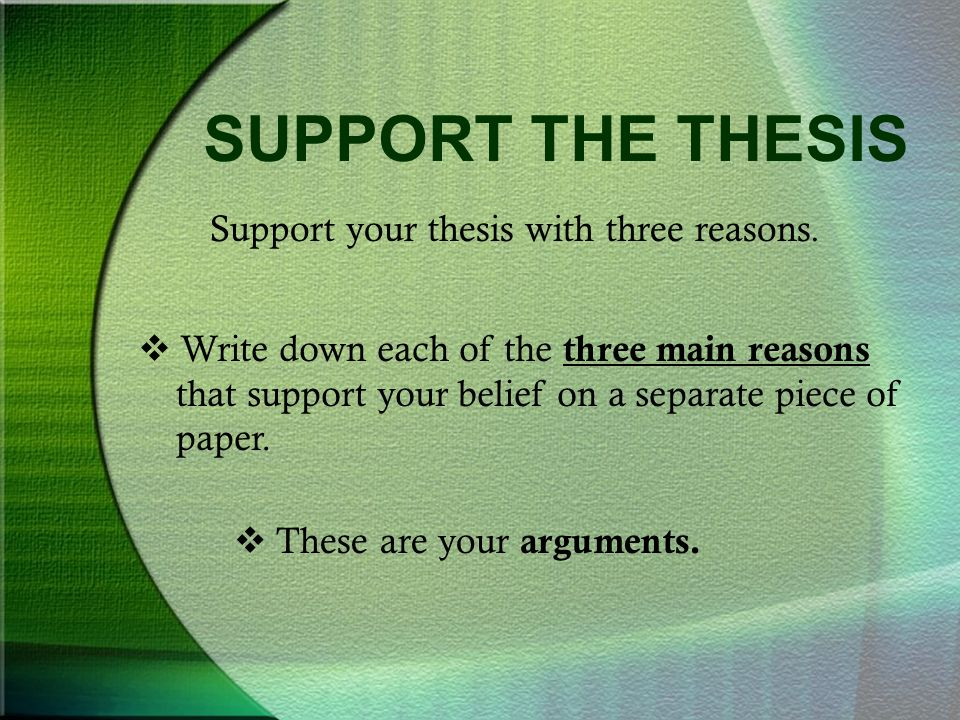 Thesis Statement Argument