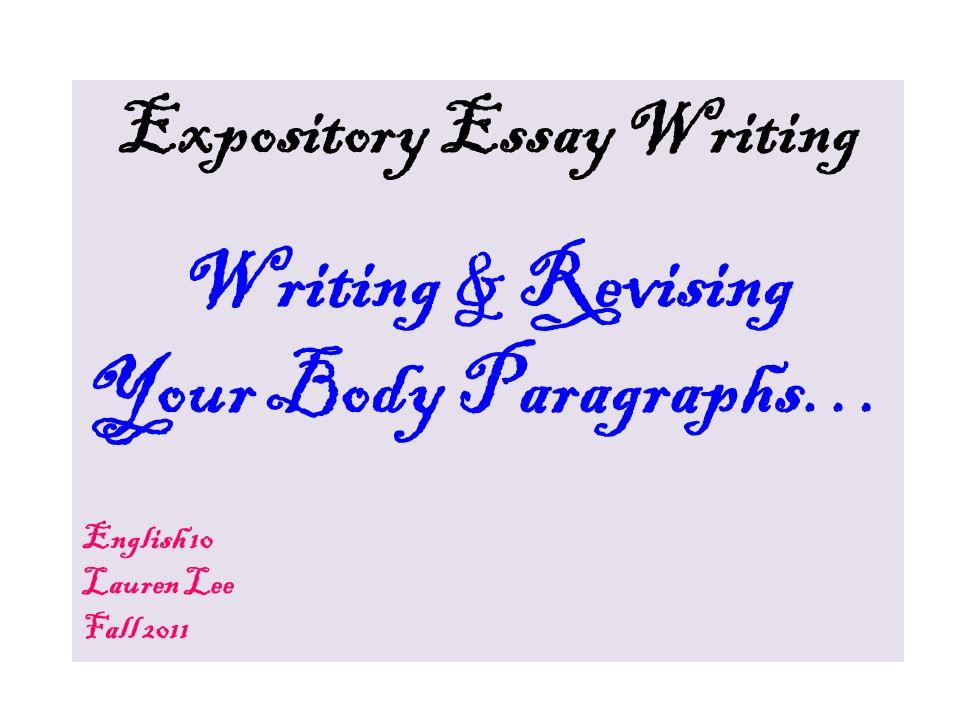 ENGLISH HELP! Expository Essay?